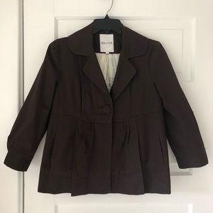 Walter brown lined jacket 2 pockets